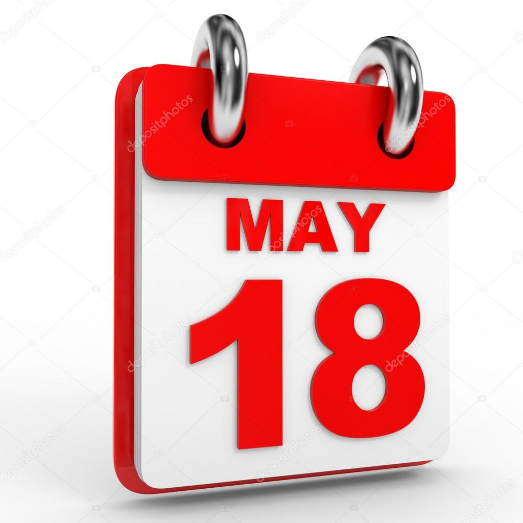 depositphotos 95750406 stock photo 18 may calendar on white